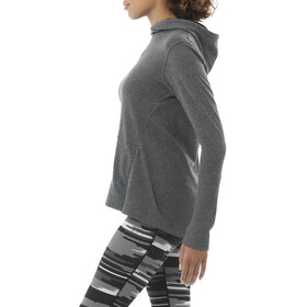 asics Fuzex Crossback Hoodie Women dark grey heather